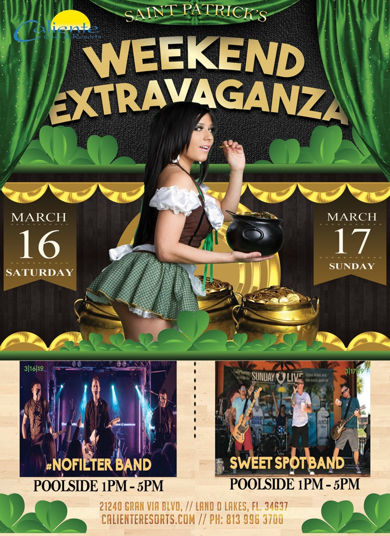 Caliente Resorts St Patricks Day Bands