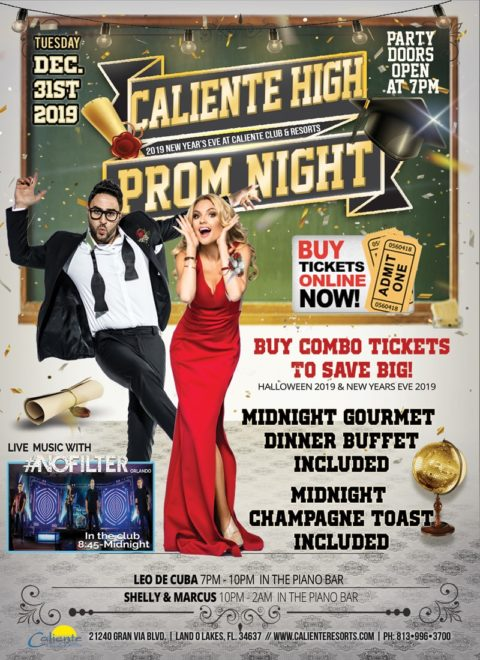 New Years Eve at Caliente 2019: Caliente High Prom Night