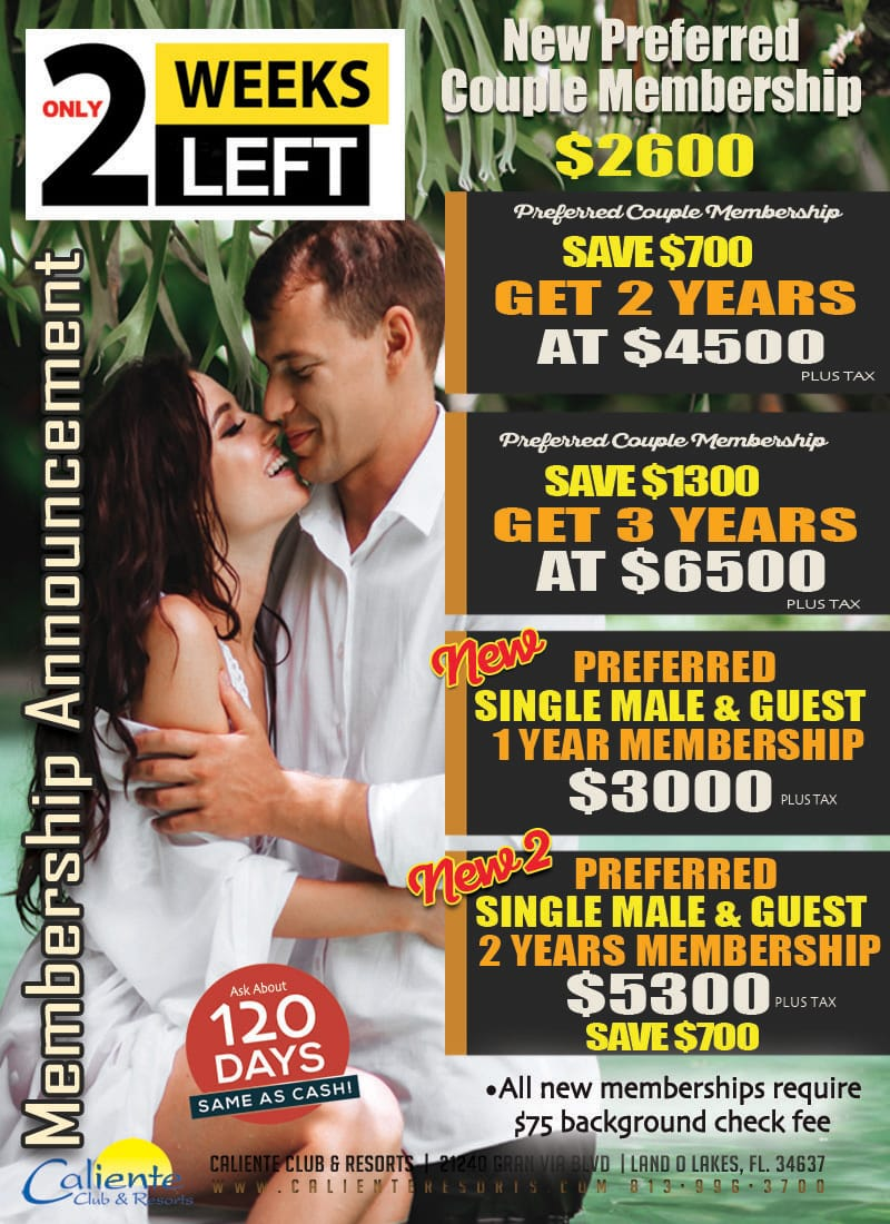 Caliente Resorts Membership Special
